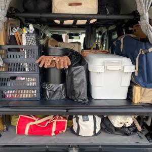 キャンプ道具を積んでみた