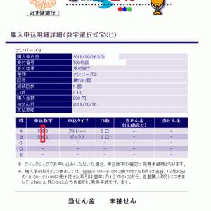 振り子占い 本日の実占結果 ナンバーズ3