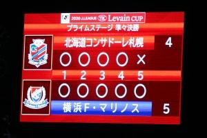 JリーグYBCルヴァンカップ 準々決勝 札幌 1-1(PK 4-5) 横浜FM @札幌厚別