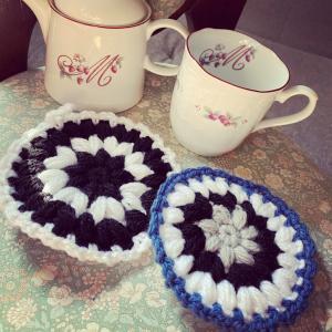 【アクリルたわし】オンラインで楽しく編み編み会したいなー#アクリルたわし #編み物 #...