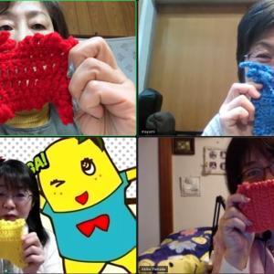 千葉、東京、大阪で【第一回オンライン編み編み会】楽しくお喋りしつつアクリルたわしが完成️...