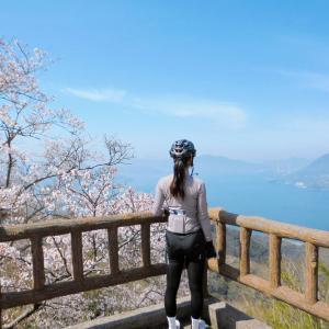 桜咲くゆめしま・しまなみ海道と積善山ヒルクライム 71 km
