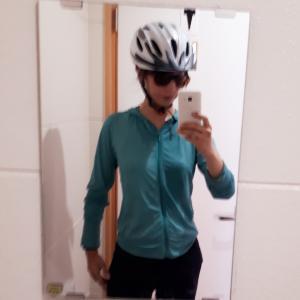 ある女性サイクリストの真夏のライド