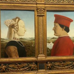 あっ!鼻が欠けてる ピエロ デ フランチェスカ ウフイッツイ美術館