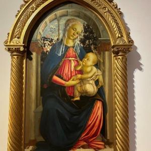 二枚の聖母子 ボッティチェリ ウフィッッイ美術館 フィレンツェ