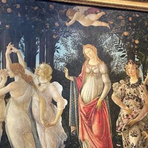 ゼフュロスは愛の風 ボッティチェリ ウフィッッイ美術館 フィレンツェ