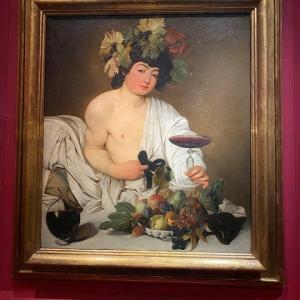 画家でお尋ね者 カラヴァッジヨ ウフィッッイ美術 フィレンツェ
