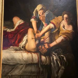 ある女性の叫び アルテミジア ウフィッッイ美術  フィレンツェ