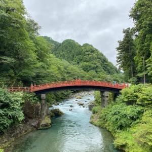 日光山神橋附近 栃木県 日本