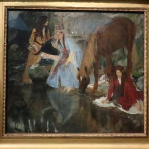 ドガ E.E.譲の肖像、バレエ「泉」に際して