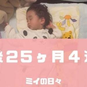 定期身体測定2歳1ヶ月(生後25ヶ月2週目)