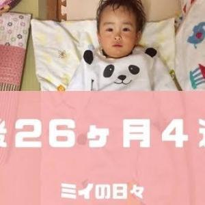 定期身体測定2歳2ヶ月(生後26ヶ月4週目)