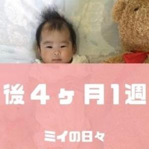 長女の定期身体測定結果生後122日(生後4ヶ月1週目)