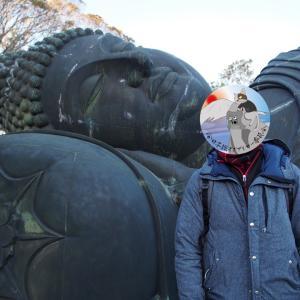 ノリノリ尼僧さんが守る巨大青銅製涅槃像  ~常楽山 萬徳寺~