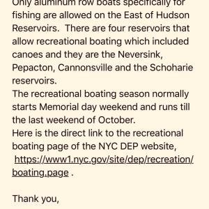 ニューヨーク市環境保護局からの返信。