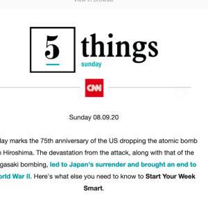 CNN のBriefing より。 思ったことストレートトーク。