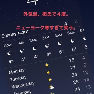 ニューヨークの気温は、今宵は東京の真冬並み。