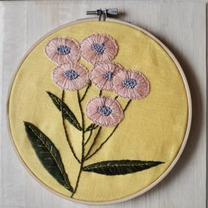 ボタニカル刺繍