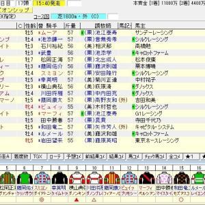 第36回マイルチャンピオンシップ(G1) 2019出走馬名表