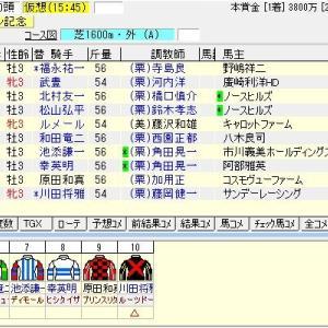 第54回日刊スポーツ賞シンザン記念(G3) 2020 出走馬名表