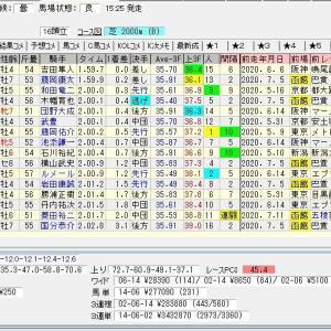 第56回農林水産省賞典函館記念(G3) 2020 結果