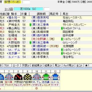 第23回富士ステークス(G2) 2020 出走馬名表