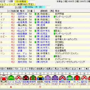 第72回農林水産省賞典阪神ジュベナイルフィリーズ(G1) 2020 出走馬名表