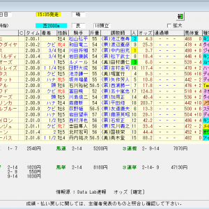 第56回中日新聞杯(G3) 2020 結果