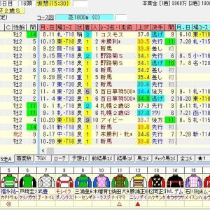 第23回東京スポーツ杯2歳ステークス(G3) 2018 出走馬名表