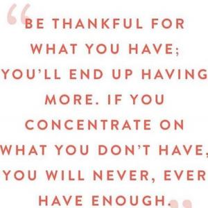 文句もんは感謝を忘れがち。