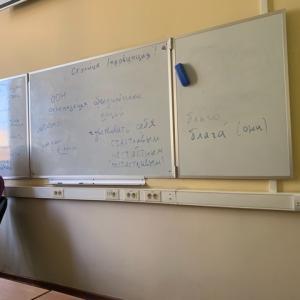 大学のロシア語コース始まりました!
