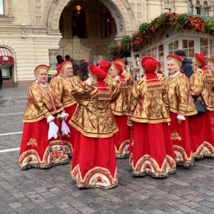 ロシアの料理を楽しめるフェスティバルの露店!