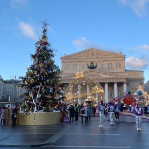 年末年始の歩行者天国パレード(モスクワ)