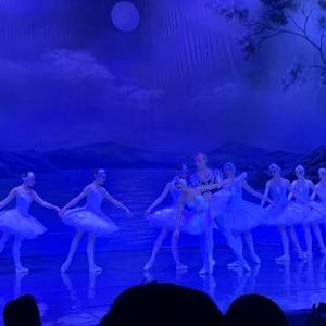 バレエ白鳥の湖を楽しんだ夜。モスクワ!<br />