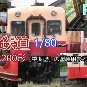 小湊鉄道キハ200形[中期型]の塗装用参考資料画像