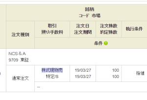 【個別株】NCS&Aとビックカメラを売却