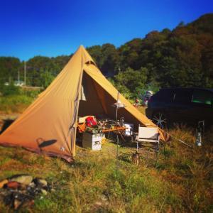 天気サイコーな秋キャンプ!