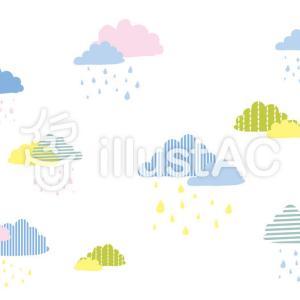 【イラストAC】北欧柄(雲)