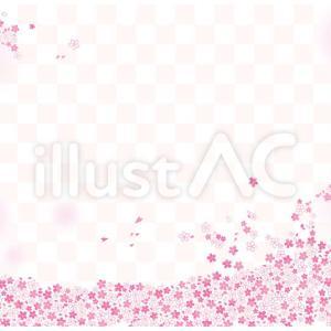【イラストAC】桜背景 フリー素材