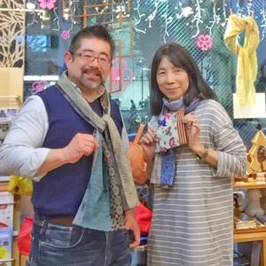 Atelier Rei の石橋玲子さんの新作スカーフ