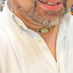 蜻蛉玉丙午 の とんぼ玉ネックレス 夏に涼しげなアクセサリー