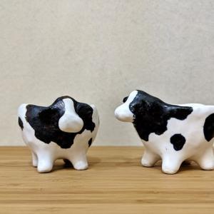 牛の植木鉢, 一輪挿し と食器 by Refrappe