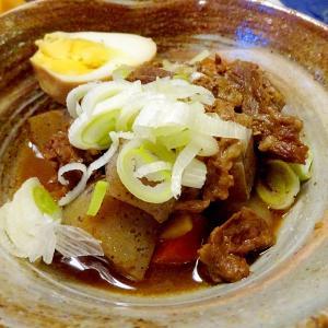 ■牛すじ煮込み■10分で..野菜麺のおすまし &湯布院土産