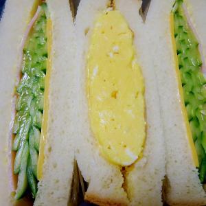 ■10分で..サンドイッチ2種■10分で..おからポテサラ風■15分で..高野豆腐ふきの含め煮