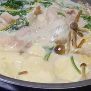 ■10分で仕込み..豆乳鍋 &トヨタの塩対応