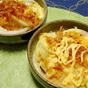 ■5分で..新玉ねぎおかかチーズ■10分で..豚生姜焼き &オリンピックロゴ入り器制作