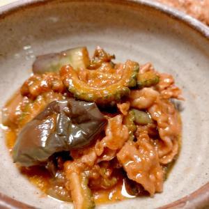 ■10分で..豚しゃぶ肉でピリ辛茄子味噌 &スズメバチの巣