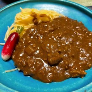 ■お肉食べてる感アップのひき肉カレー &泣き虫小僧