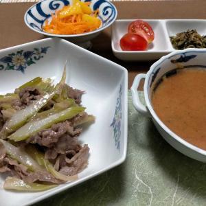 ■セロリと牛肉の中華炒め■ローズマリームニエル■シソジュース &今年のお中元
