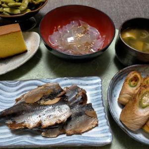 ■肉巻きオクラ竹輪■揚げずに焼いてフライドポテト &すねかじり